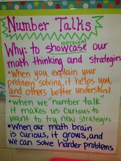 Using Number Talks in the classroom