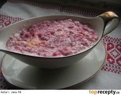 Brusinkový křen ke grilování Tzatziki, Steak, Oatmeal, Breakfast, Food, Gardening, The Oatmeal, Morning Coffee, Rolled Oats