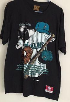 VINTAGE Rare ORIGINAL 1990s FLORIDA MARLINS MLB Baseball Made In The USA Nutmeg please retweet