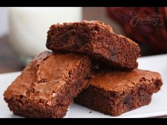 Receta de brownies de doble chocolate