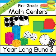 First grade math skills growing bundle of hands-on learning activities! Will include 90 math centers when complete! $TpT