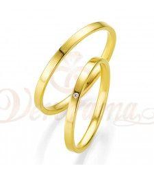 Βέρες γάμου χρυσές με διαμάντι breuning 4309-4310
