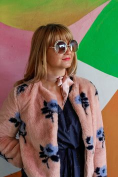 Stardust Dress // Millennial Pink Faux-Fur - FashionSensitive