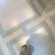 Life is too short to match your socks, especially when painting lots of floors! This is my new favorite office! Notice the before,… Painted Floors, Life Is Short, Hardwood, Brick, Carpet, Instagram Life, Flooring, Photo And Video, Socks
