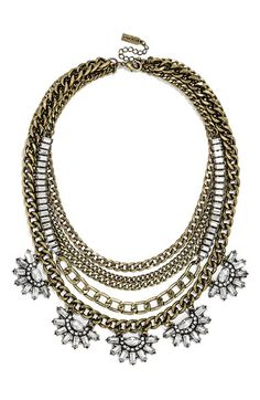 BaubleBar 'Sundial' Chain Bib Necklace available at #Nordstrom