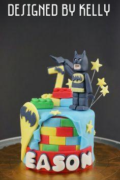 蝙蝠俠 樂高 - 四吋 -小壽星非常喜歡Lego batman -蛋糕邊飾為樂高堆疊側面圖 -裝飾加上了壽星歲數以及名字 https://www.facebook.com/RollRollKelly