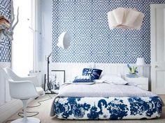 google image result for httpcurtainscolorscomdark blue bedroom drapesjpg favorite places spaces pinterest master bedrooms bedrooms and guest - Blue And White Bedroom Designs