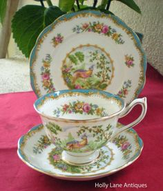 Royal Albert Trio Chelsea Bird Cup Saucer by 4HollyLaneAntiques, $48.00  I have this teacup given to me by my Aunt Ruthie.