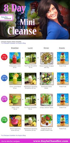 Kayla's Mini Cleanse - Great way to ease into the cleansing lifestyle while jumpstarting your weight loss with minor detox symptoms. Healthy Cleanse, Healthy Juices, Juice Cleanse, Healthy Drinks, Get Healthy, Healthy Tips, Healthy Eating, Smoothies, Juice Smoothie