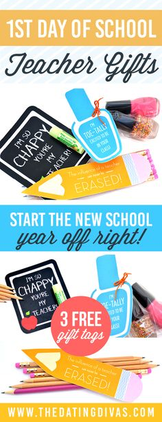 Free printable teacher gift tags!