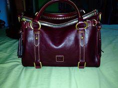 #Dooney and #Bourke small #florentine #vachetta #satchel in the color #crimson