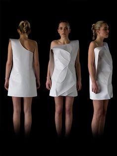 Sculptural, minimal fashion, designer & model: BOSKA by Eliza Borkowska photographer: Edinburgh College of Art