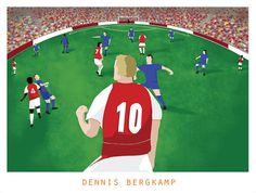 Dennis Bergkamp Print A Bergkampeye view by CatandBall on Etsy, £12.00
