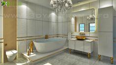Modern Bathroom Interior rendering Design Australia - Home Decor Architectural Design Studio, 3d Interior Design, Interior Rendering, Restaurant Interior Design, Restaurant Ideas, 3d Design, Design Ideas, 3d Bathroom Design, Apartment Bathroom Design