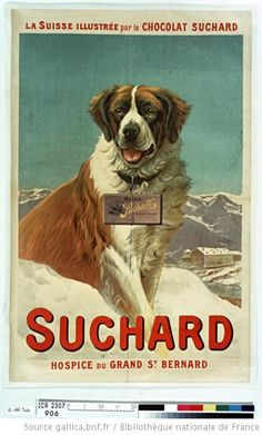 My favorite picture - vintage graphics, St Bernard, and Milka chocolate - simple pleasures.