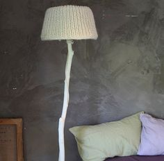 A floor lamp made of recycled materials painted by DutchDilight, €297.50
