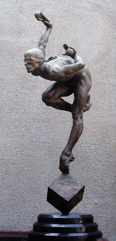 "Richard MacDonald's ""Blind Faith"" (third-life), from the Cirque du Soleil series."