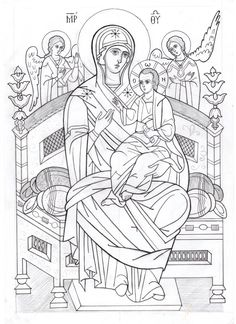 Sketches, Drawings, Church Art, Coloring Books, Art, Byzantine Icons, Linear Art, Art Icon, Sacred Art