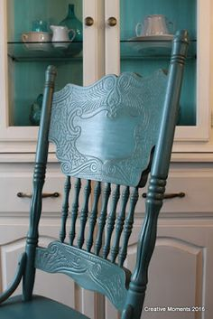 Best old wood chair ideas painted furniture Ideas - My Home Decor Painting Wood Furniture, Painted Chairs Diy, Refinished Chairs, Wooden Accent Chair, Painted Rocking Chairs, Painted Wood Chairs, Wood Rocking Chair, Painted Furniture, Painted Wooden Chairs