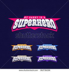 Super hero power full typography, t-shirt graphics, vectors - stock vector
