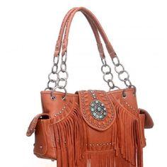 Brown Western Handbag , Trinity Ranch Fringe  , Montana West Cowgirl Purse , NEW #MontanaWest #ShoulderBag