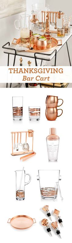 Let the good times flow at your Thanksgiving celebration with copper barware from the Martha Stewart Collection at Macy's!
