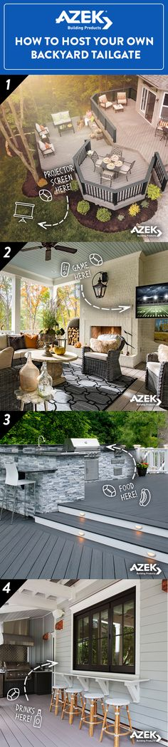 The perfect tailgate deserves the perfect setting! An AZEK deck is the ideal space for outdoor entertaining.