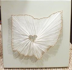 Amazing, nails, string, and province/country or state where the love first started then a heart for the city ...     http://theharpsterhome.wordpress.com/2011/12/12/heart-in-ohio/