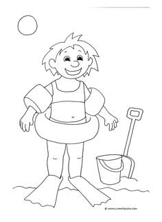 Happy Summer Coloring Pages Printable For Preschoolers