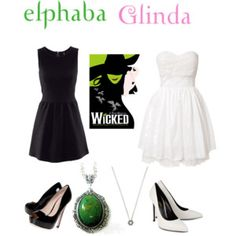 Elphaba and Glinda from wicked