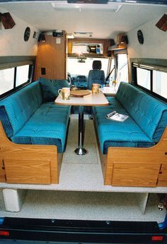 """Quicklinks 1 EB Gauchos/Beds 2 EB Mid-Dinettes 3 EB Rear Dinettes 4 EB Couches 5 Dinettes W 6 RB Gauchos 7 Bunk/Platform 8 Captain Seats Page 5 RB Dinette W Only 19'4"""" long. You can park anywhere a full-size car can! Running boards optional • Height with """"High Roof"""" shown 107"""". Interior 6'3"""". • Height with """"Low Roof"""" not shownContinue Reading"""