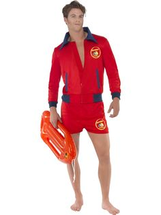 You can buy a Men's Baywatch Lifeguard Costume for parties from the Halloween Spot. This red Baywatch men lifeguard costume comes with Top & Shorts. Lifeguard Costume, Beach Lifeguard, Lifeguard Outfit, Costume Sexy, Costume Dress, Halloween Men, Halloween Costumes, Carnival, Adult Costumes