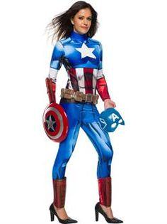 Marvel Universe Captain America Costume Womens - SpicyLegs.com