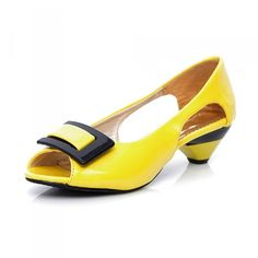 Carol Shoes Fashion Womens Peep Toe Low Heel Sandal * Check out this great product.