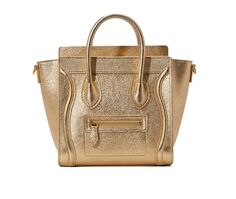 Celine Nano in laminated lambskin with gold color leather handles cross body tote is both charming and practical. Showcasing spectacular smooth leather, this bag combines Celine Nano Bag, Celine Nano Luggage, Leather Handle, Smooth Leather, Fashion Books, Gold Hardware, Shoulder Strap, Purses, Cross Body