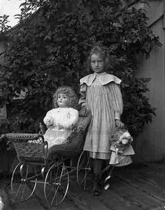 Girl with vintage Doll by jbpics, via Flickr