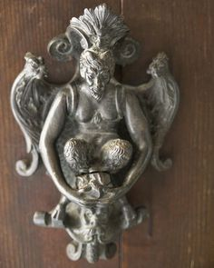 old door knockers - Antique Door Knockers, Door Knockers Unique, Door Knobs And Knockers, Knobs And Handles, Door Handles, Cool Doors, Unique Doors, Medieval Door, Portal