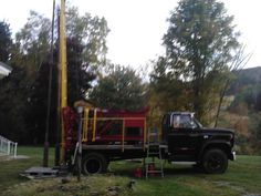 Dad's well drilling machine that Ope fixed up. Sure looks nice. Dad would be so proud of Ope.