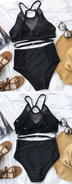 Treat Yourself to Something Special. Let your bikini set be the talk of your next break time party. Cupshe Mystery Night Cross Bikini Set is a standout bikini. The mesh splicing can bring an on trend look that also helps keep you cool. Shop it Now.
