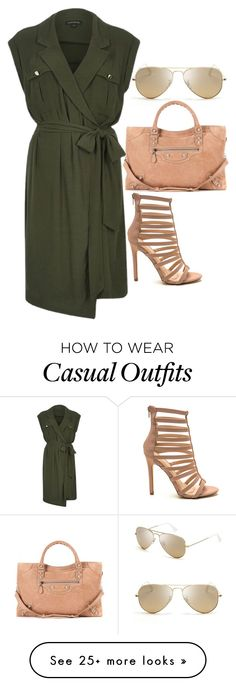 """""""Casual Day Out"""" by heart-break on Polyvore featuring Ray-Ban, River Island, Balenciaga, women's clothing, women, female, woman, misses and juniors"""