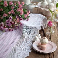 ✿⊱❥ Lindo e delicado trabalho em crochê