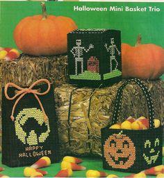 Halloween Baskets Plastic Canvas Patterns