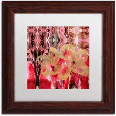 Trademark Fine Art Daisy Abstract Canvas Art by Lisa Powell Braun, White Matte, Wood Frame, Red