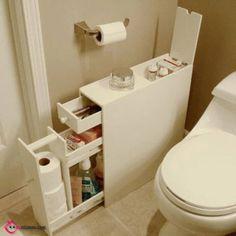 Oldukça Etkili 38 Küçük Banyo Depolama Fikirleri