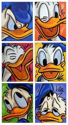 New Painting Ideas Disney Acrylic Ideas - Einfach Cartoon Wallpaper, Duck Wallpaper, Mickey Mouse Wallpaper, Cute Disney Wallpaper, Cartoon Kunst, Cartoon Art, Disney Drawings, Cartoon Drawings, Drawing Disney