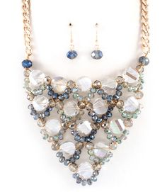 Crystal Madeleine Necklace in Vitrail on Emma Stine Limited