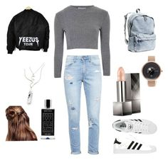 """""""Untitled #23"""" by lindsey-ritchie ❤ liked on Polyvore featuring Paige Denim, adidas, H&M, Skagen, Burberry, Glamorous and Agonist"""