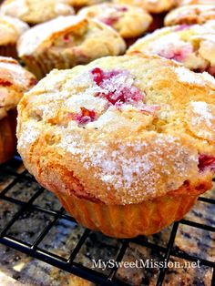 Sugar Crusted Raspberry Muffins | My Sweet Mission