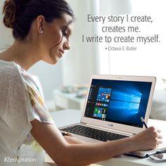 Life is about creating yourself. #Zenbook UX305. #Zenspiration