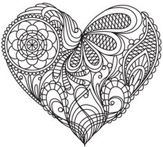 Mendhi Heart | Urban Threads: Unique and Awesome Embroidery Designs